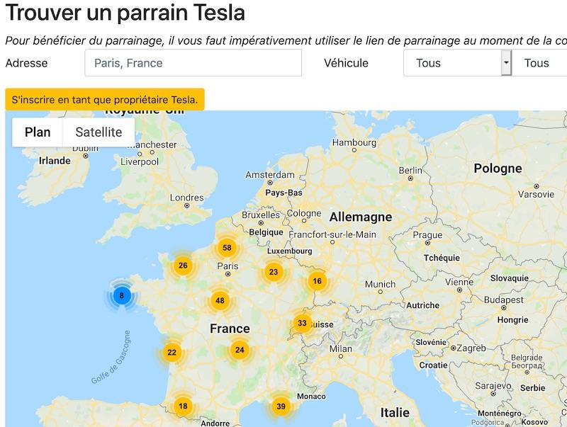 Trouver un parrain Tesla