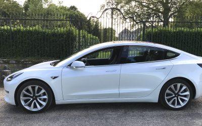 Livraison d'une Tesla model 3