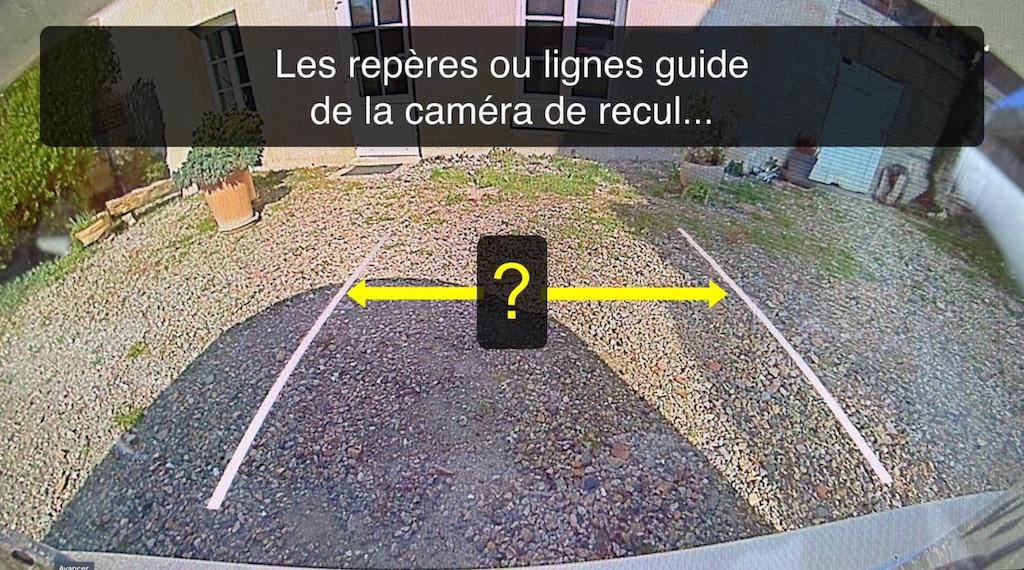 La caméra de recul et ses repères ou lignes guide
